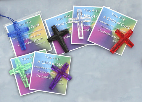 Plastic Cross Prayer Folder - HX8317930