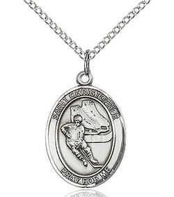 St. Christopher/Hockey Medal - FN8504SF18S