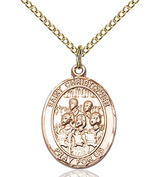 St Christopher / Choir Medal - FN8514GF18GF