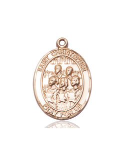 St Christopher / Choir Medal - FN8514KT
