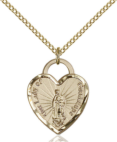 Our Lady of Guadalupe Heart Medal - FN3208GF24G