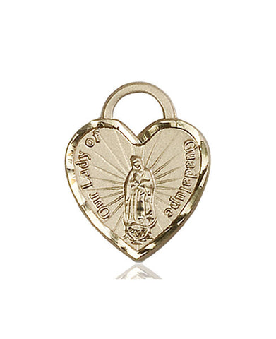 Our Lady of Guadalupe Heart Medal - FN3208KT