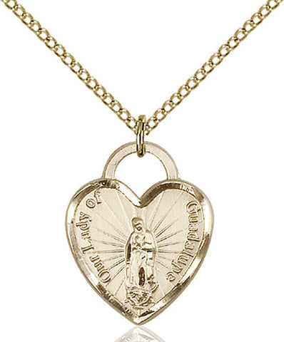 Our Lady of Guadalupe Heart Medal - FN3209GF24G