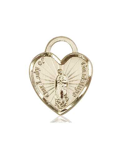 Our Lady of Guadalupe Heart Medal - FN3209KT