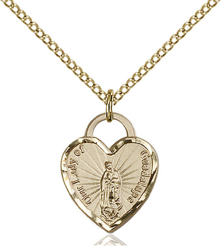 Our Lady of Guadalupe Heart Medal - FN3408GF24G