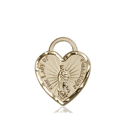 Our Lady of Guadalupe Heart Medal - FN3408KT