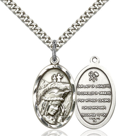 Our Lady of La Salette Medal - FN4163SS18SS