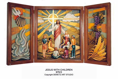 Triptych Jesus with Children - HD9703
