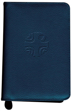 Liturgy of the Hours Leather Zipper Case Blue - GF40110LC
