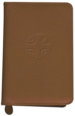 Liturgy of the Hours Leather Zipper Case Brown - GF40310LC