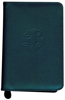 Liturgy of the Hours Leather Zipper Case Green - GF40410LC