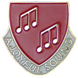 A Joyful Sound Lapel Pin Red - XWB75