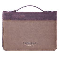Strength Luxleather Bible Case - GCBB648