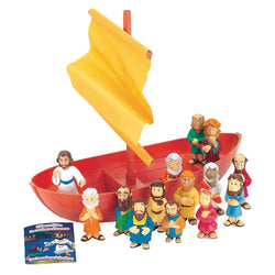 Playset Plastic Galilean Boat with Apostles - HOBIBLPLAY2