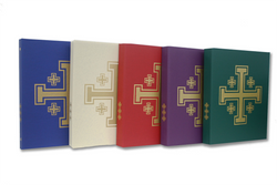 Liturgical Binder With Gold Jerusalem Cross - WX9215