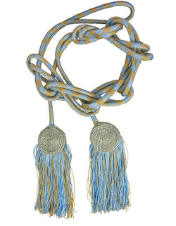 Marian Blue/Gold Priest Tassel Cincture - VL9005