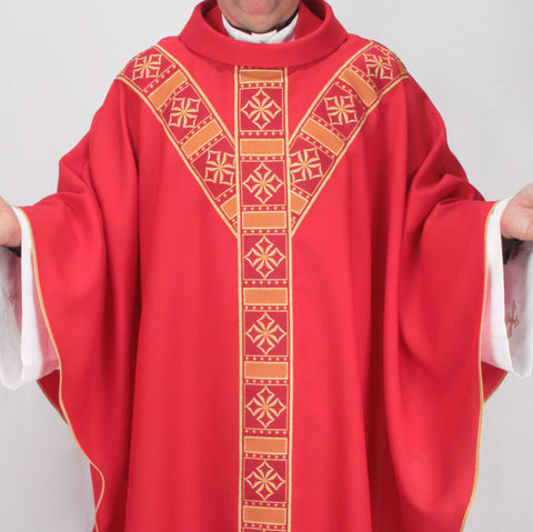 Cathedral Chasuble - Red - JK731-003R