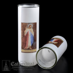Patron Saint Glass 5/6/7 Day Globes - Divine Mercy