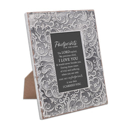 Exquisitely Embossed Grey Frame - Footprints - GPEQF12SGR