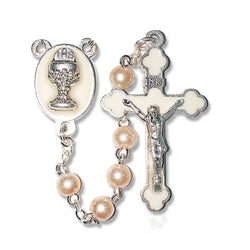 Pearl First Communion Rosary - WOSR3990JC