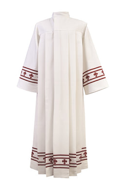 SLGA87R Genesis Collection Red Embroidery Priest Alb