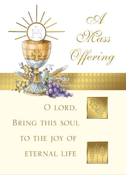 Mass Card for Deceased - FQMA027