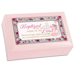 Petite Jeweled Pink Music Box Baptism - GPPJPJESUS