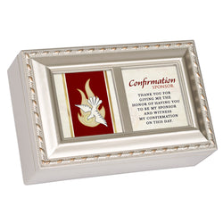 Petite Ivory Keepsake Music Box Confirmation Sponsor - GPPMCGRACE