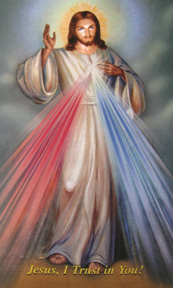 Divine Mercy Holy Card - LAHCDM