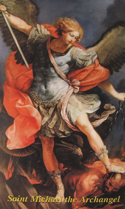 St. Michael Holy Card - LAHCMK