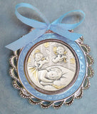 Crib Medal with Cherub Angels Multiple Colors - HX14840