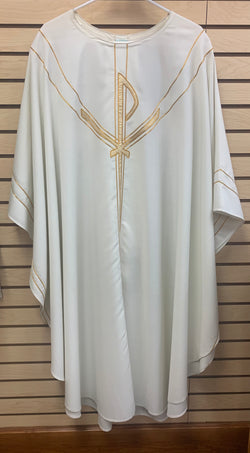 Gothic Chasuble - White/Gold - WN5090W