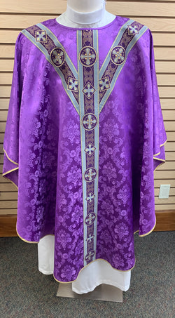 Traditional Chasuble - Purple - SO4531-001P