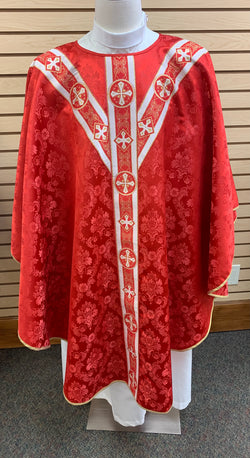 Traditional Chasuble - Red - SO4531-001R