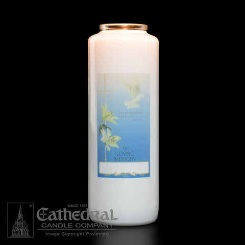 In Loving Memory - All Souls' Day Candles 6 day glass - GG2101
