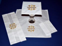 Jerusalem Cross Mass Linens - SL3021
