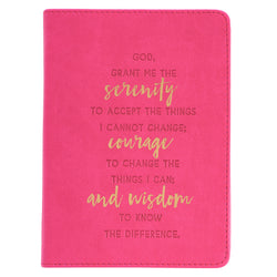 Serenity Prayer Luxleather Pink Journal - GCJL295
