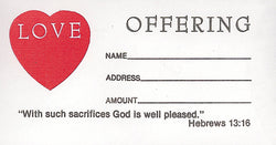 Love Offering Envelopes - MA3689