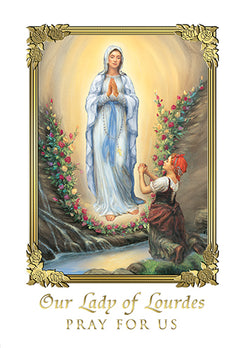 Our Lady of Lourdes Mass Cards FQME738