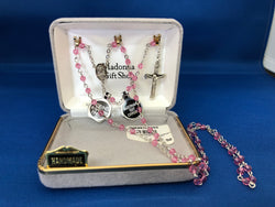 Rose Crystal Rosary-MWR9574ROSS