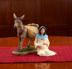 Traveling Mary and Donkey Statue - KIRLN043