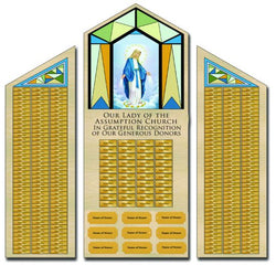 Blessed Mother Mary Donor Wall - XWRT10