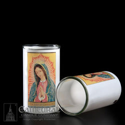 Patron Saint Glass 3 Day Globes - Our Lady of Guadalupe