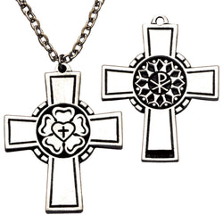 Small Pectoral Cross w/Luther's Seal - XWP144