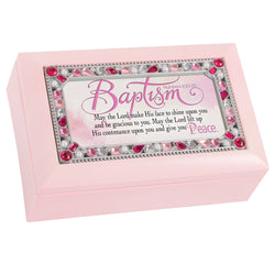 Petite Pink Jeweled Music Box Baptism - GPPJGPKGRACE