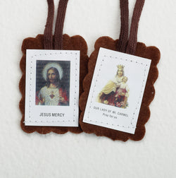 Mount Carmel Cloth Scapular - LAPL875