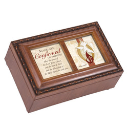 Petite Wood Grain Music Box Confirmation - GPPM5809S