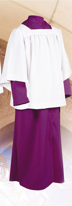 Purple Altar Server Roman Cassocks with Snap Front - UT215S