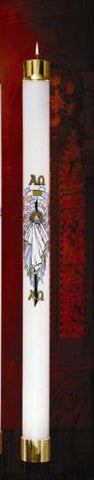 Refillable Paschal Candle-Resurrection Design