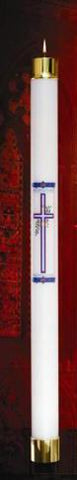 Refillable Paschal Candle-Cross Design